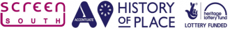 Screen South, Accentuate History of Place and Hertiage Lottery Fund logos