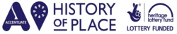 Accentuate History of Place logo and Heritage Lottery Fund logo